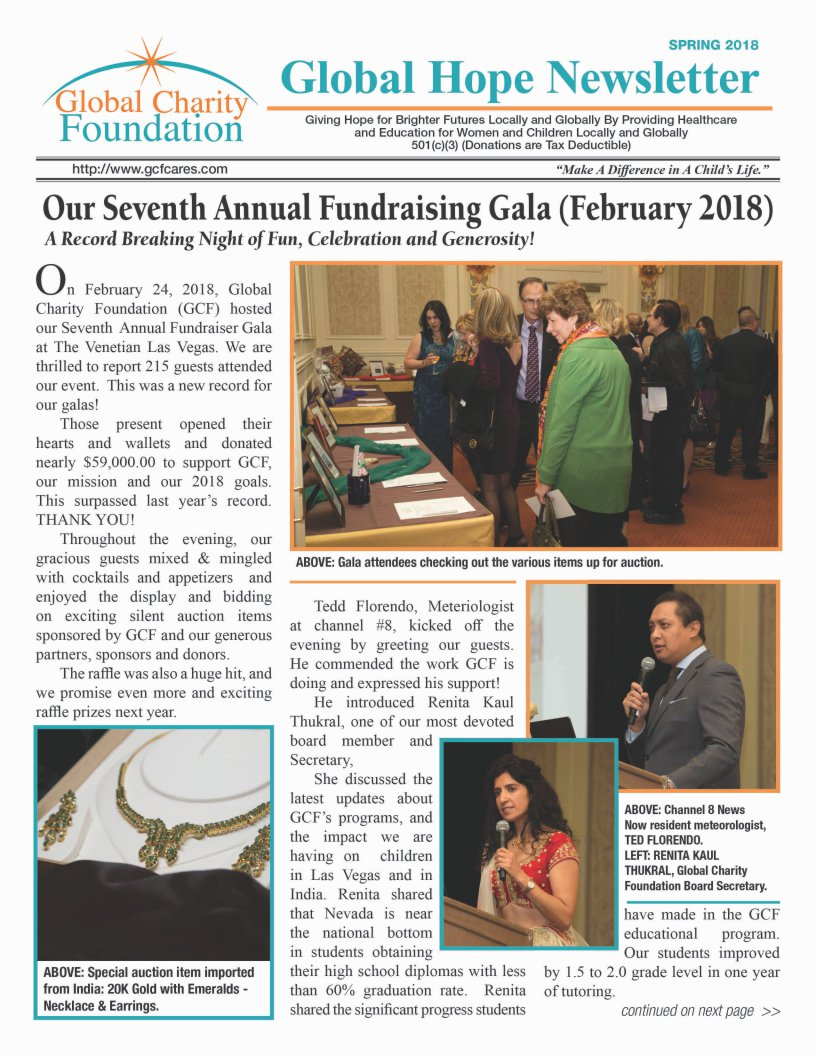 Spring 2018 Newsletter a